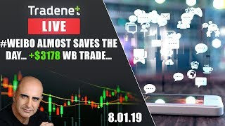 Tradenet Trading Room - #Weibo Almost Saves The Day… +$3178 WB trade…