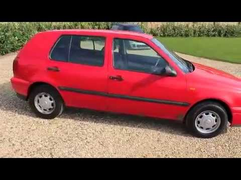 1996 Volkswagen Golf CL red  YouTube