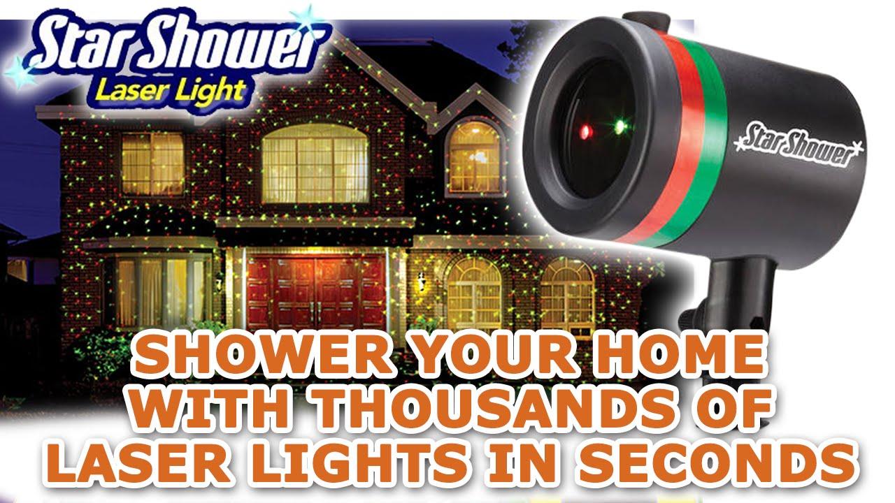 Star Shower Laser Light - YouTube