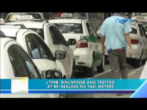 LTFRB suspends testing and re-sealing of taxi meters
