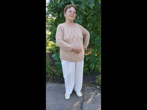 Свитер женский спицами размер 52