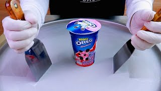 OREO Mini ice cream rolls street food - ايسكريم رول اوريو ميني