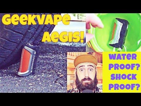 TOUGHEST 100 Watt Mod! Best For Construction Workers Who Vape! Vaping The Aegis By Geek Vape!