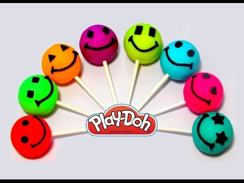Учим цвета и фигуры на английском языке с чупа чупсами из пластилина Play-Doh.