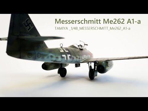 """Messerschmitt Me262 A1-a """"Red 13"""" Tamiya 1/48 - Part 3"""