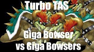 Turbo TAS: Giga Bowser vs 5 Giga Bowsers