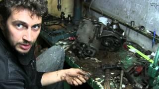 Golf 2 gearbox emas, balki, shu jumladan orqa tezligi dismantle