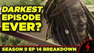 WALKING DEAD 9x14 Breakdown! Darkest Episode? SCARS EXPLAINED!