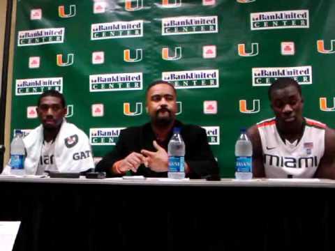12/30/10 - Coach Haith, Malcolm Grant, Durand Scott