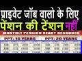 PENSION PLAN | Monthly Pension Ready Reckoner Chart | Tax Free पेंशन  हाई RETURN के साथ