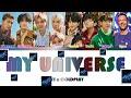 BTS x COLDPLAY - MY UNIVERSE ColorCodedLyrics ПЕРЕВОД НА РУССКИЙ КИРИЛЛИЗАЦИЯ FF2COLORCODED