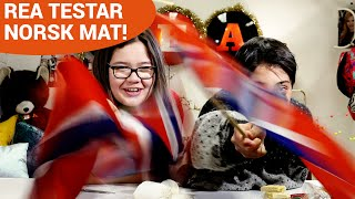 REA firar Norges nationaldag och testar norsk mat