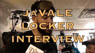 JaVALE McGEE locker room interview, postgame G4, 2018 NBA Finals in Cleveland