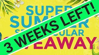 SUPER SUMMER SPECTACULAR GIVEAWAY - 3 WEEKS LEFT!