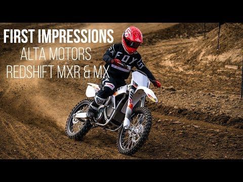 First Impressions: 2018 Alta Motors Redshift MXR and MX - Electric Motocross Bike