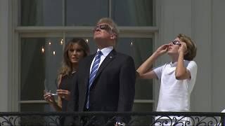 Donald y Melania Trump, pasión por el eclipse solar en la Casa Blanca