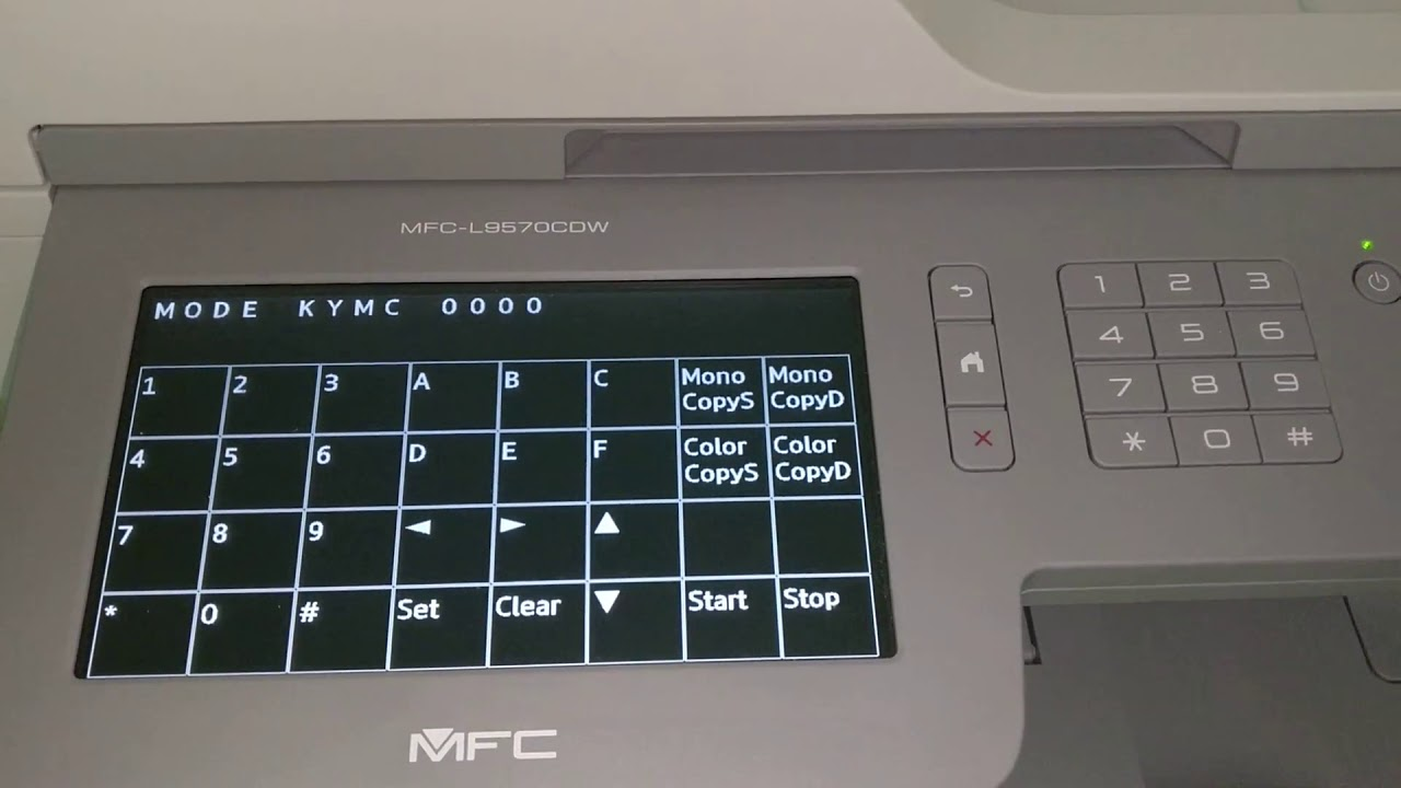 Brother MFC-L9570CDW reset toner counter