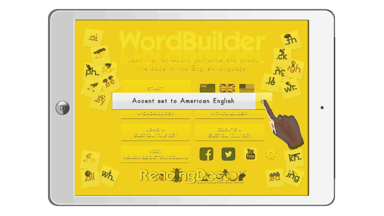 Switching Accents In Word Builder Letter Sounds 1 Pro Youtube