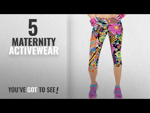 Top 10 Maternity Activewear [2018]: Ancia Womens Tartan Active Workout Capri Leggings Fitted Stretch