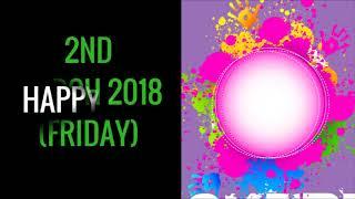 2018 Holi Festival Date & Time in India, 2018 Holi Festival Calendar