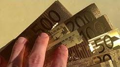 Die neuen GOLDENEN EURO (€) SCHEINE