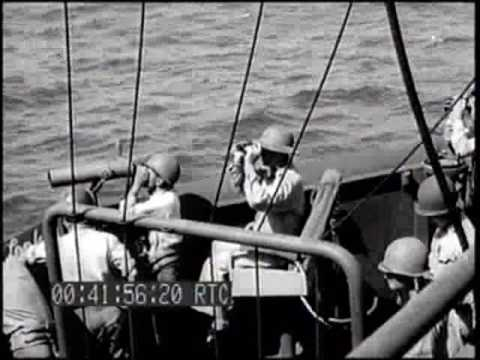 INVASION OF SAIPAN: SCENES ABOARD COMMAND SHIP USS ROCKY MOUNT; CASUALTIES; LOADED LCVPs