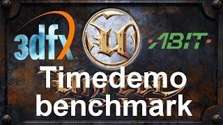 Unreal benchmark 3Dfx Voodoo Banshee