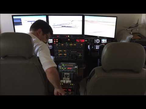 Home Cockpit - Review Saitek Rudder, Goflight Tilt Rack & MESM Vatsim Flight