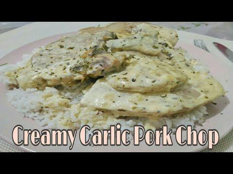 Creamy Garlic Pork Chop | Food Bae