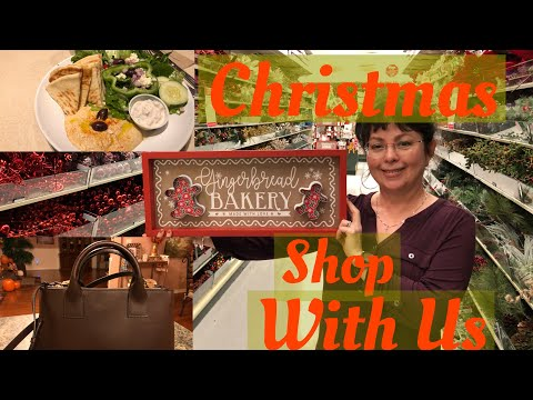 Vlog | Christmas Shop With Us 2019 | Old Time Pottery | Walmart | Dollar Tree | Hobby Lobby