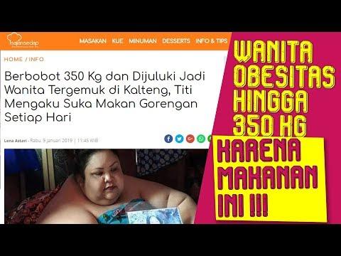 NEWS: Wanita Obesitas Hingga 350 KG Hanya Karena Makanan Ini, Ngeri!
