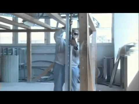 видео: Стеновые перегородки из гипсокартона.