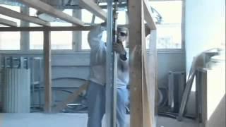 Стеновые перегородки из гипсокартона.(Строительный портал http://donosvita.org представляет видео о том как нужно правильно делать стеновые перегородки..., 2012-03-27T07:48:10.000Z)