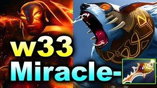 w33 vs Miracle- + Rapier Drops 7.18 Patch - Solo Ranked MMR DOTA 2