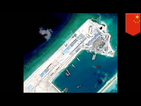 South China Sea disputes: China is building a massive airstrip on Fiery Cross Reef - TomoNews