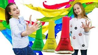 Маникюрный челлендж с лаками LUCKY. Видео для девочек.