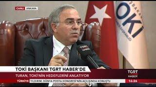 toki başkanı ergn turan tgrt haber tv canlı yayınında