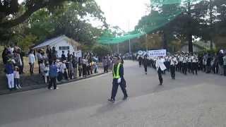 神戸市立塩谷中学校 吹奏楽部/メリディアン・マーチングフェスタ2015パレード