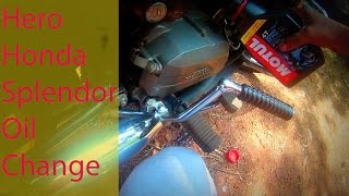 Hero Honda Splendor Engine Oil Change