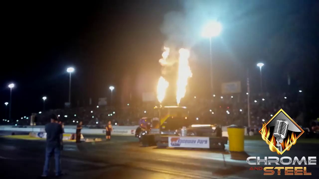 Jet truck goes down the track at us diesel nationals in englishtown nj