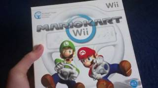 Mario Kart Wii + Wii Wheel unboxing and packaging review