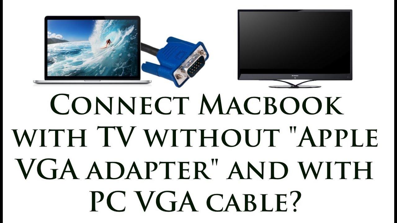 How to connect a Mac to a TV