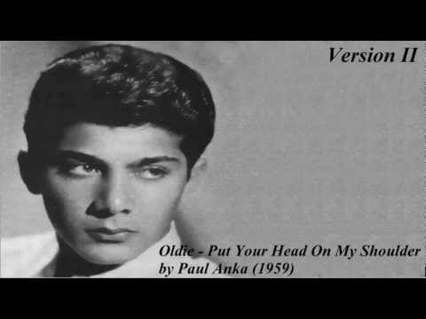oldie put head shoulder paul anka version ii youtube