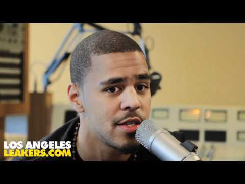 J Cole sits with the L.A. Leakers