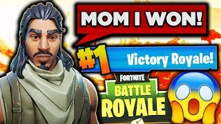 HELPING 8 YEAR OLD KID WIN HIS FIRST EVER FORTNITE GAME!!!