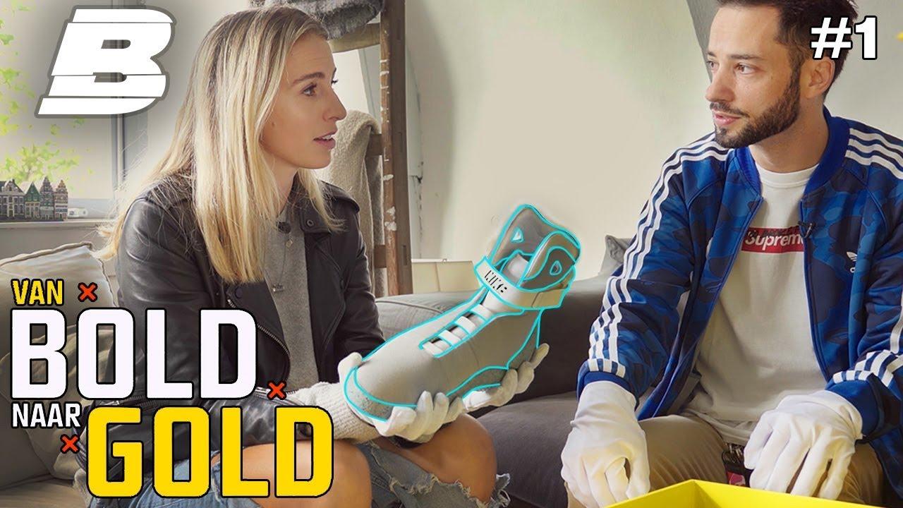 VALERIO SHOWT EEN SNEAKER VAN €7000,-   VAN BOLD NAAR GOLD - Concentrate BOLD
