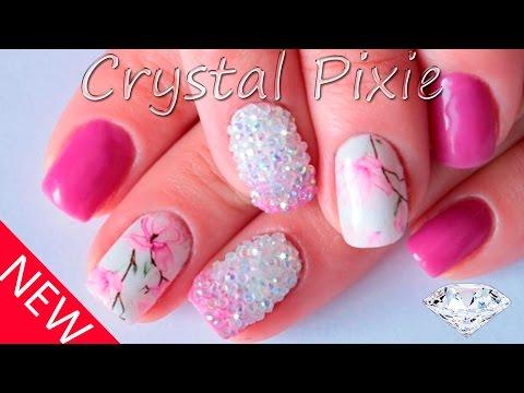 Новинка! Дизайн ногтей с кристалами пикси на гель-лаке. Как закрепить? Crystal Pixie  Nail Art