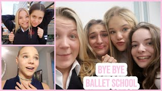 my last two days going to a ballet school...