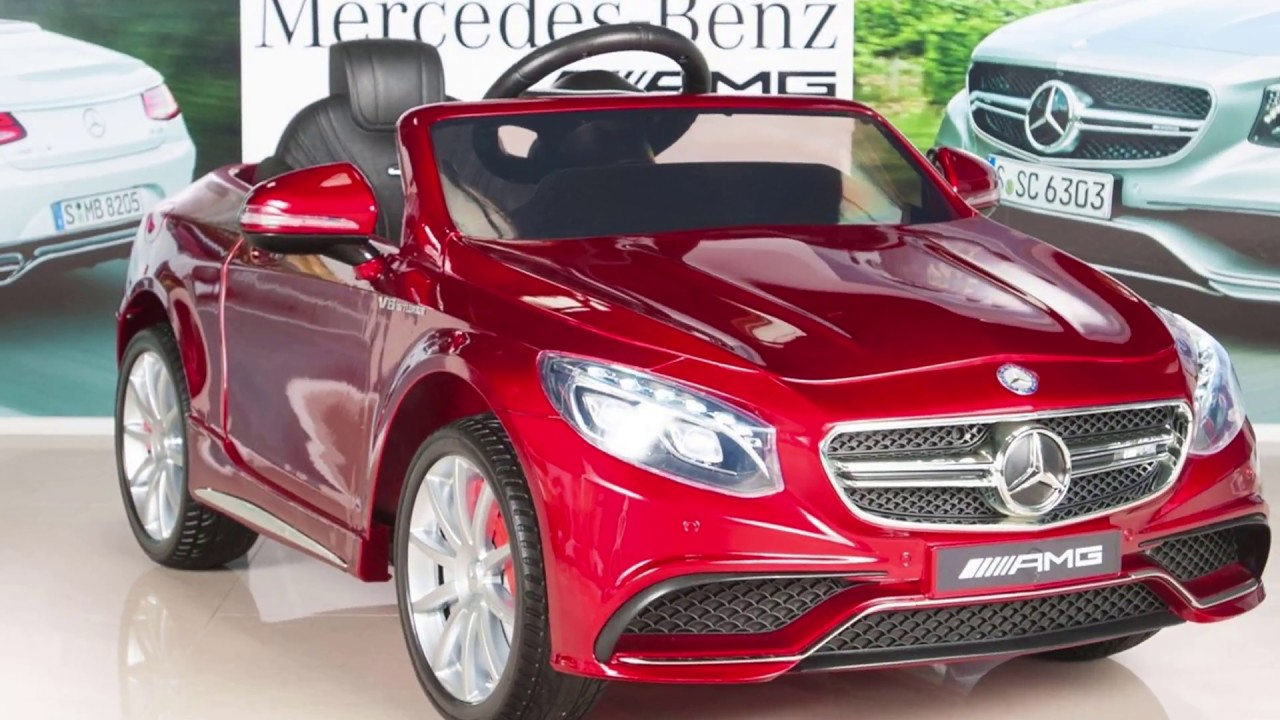 Mercedes Benz S63 Ride On Car Kids Rc Car Remote Control Electric