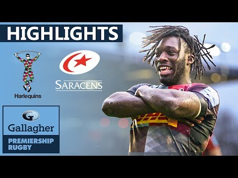 Harlequins v Saracens HIGHLIGHTS | Quins Run In 6 Tries Against Saracens | Gallagher Premiership